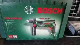 Bosch psb 100 re impact drill for sale nearly new in box