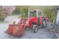 Massey Ferguson 550 Tractor and Loader low hours for year