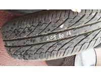 Car tyre - 205 60 16 Dunlop 6.5mm 7.0mm - no repaired