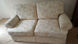 Marks & Spencer Cream Double Sofa With Floral Pattern