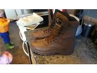 Combat boots size 11 MOD brown