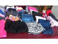 70 items of different girls clothing age 7 & 8. From brand named shops