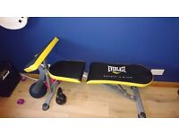 Everlast weight bench and weights