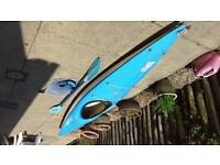 Canoe, with paddle and spray deck for sale