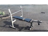 BODY SOLID BFOB10 FOLD AWAY WEIGHTS BENCH - heavy duty