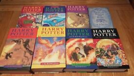 RE-ADVERTISED **ALL 7 HARRY POTTER BOOKS IN HARDBACK + TALES OF BEEDLE THE BARS ***
