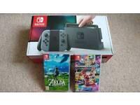 Nintendo Switch with MarioKart & Zelda BOTW