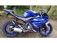 Yamaha YZFR125 Blue 2013 Owned From New.