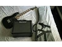 Ibanez Gio Mikro 3/4 electric guitar with gig bag & Backstar ID Core 10
