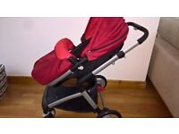 4 Wheeled Baby Travel System by Mothercare in Red & Black