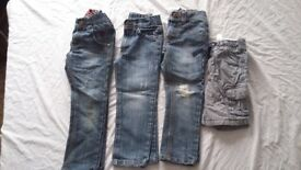 Boys jean and shorts bundle age 4