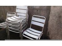 6 aluminium chairs in a very good condition