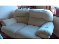 2 seater sofa - light yellow