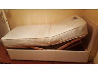 Adjustable electric single bed.