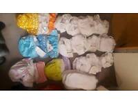 Washable nappies bundle and baby wrap carrier