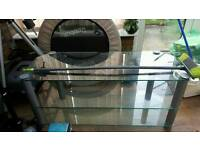 large glass TV stand £30
