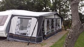Dorema Awning 1025 only used one season complete with breathable ground sheet,storm straps and pegs
