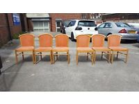 6 USED CHAIRS