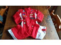 Boys racing driver costume 5-6 yrs