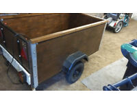Refurbished Car / Van Wooden Tow 5ft x 3ft Box Trailer 5x3