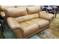 2X Two seater Leather Sofas in Good condition