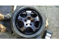 Alloys 17 inch 4 good tyres £150