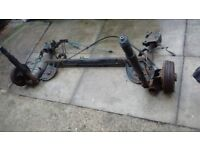 Renault Clio 2009-2012, face lift model, complete rear axle
