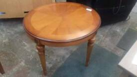 Round side wooden table