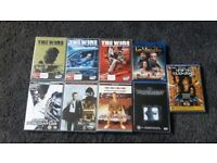 Mixed lots of multi region dvds
