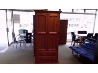 GREAT CONDITION!! 2 door pine tallboy/wardrobe as new with 2 large drawers for storage