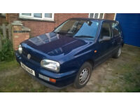 Volkswagon Golf CL Auto - very low mileage - MOT Feb2019