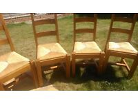 **free**4 chairs and extending oval table for sale
