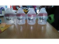 x4 tommee tippee 150ml bottles brand new