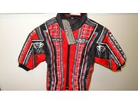 wulfsport jacket motocross motox quad youth kids size 24 age 3-4 red