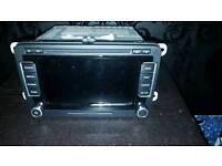 VW VOLKSWAGEN GOLF RNS 510 LED SAT NAV DVD CD MP3 MK5 MK6 GTI R32 CADDY POLO