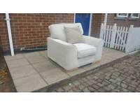 Ashley manor cream chenille armchair ex-display