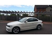 BMW 118d White Coupe