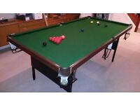 Jaques 7ft Folding Snooker Table,Cues,Balls,Triangle,S/bd,Cover-Excellent condition! Bought for £800