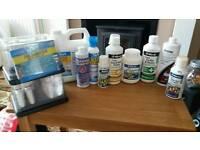 Job lot freshwater medication water conditioner master test kit API Waterlife Seachem