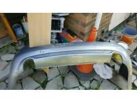 Grey Audi A4 Avant B7 Estate Rear bumper with twin exhaust.