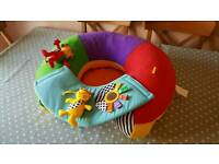 Inflatable support ring for babies to sit and play