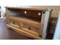 Mexican pine tv unit cabinet