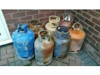 GAS BOTTLES LOG BURNER BBQ FABRICATION