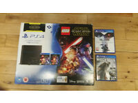 1 TB PS4 in fantastic condition plus 2 games - new matte model with mechanical buttons