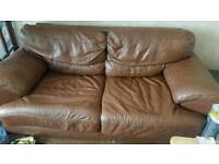Violino real leather sofa and chair
