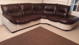 Dfs Leather corner Sofa set