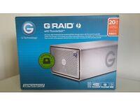 BRAND NEW GRAID - G RAID G-TECHNOLOGY 20TB ENTERPRISE EXTERNAL STORAGE HARD DRIVE USB 3 THUNDERBOLT