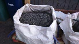 Charcoal grey gravel