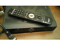 SOLD - Humax HD TV box with remote and scart cable included