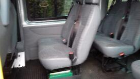 Ford Transit 17 Seat Hi Top Mini Bus 2010 6speed psv coif digi tacho psv july 2019 tow bar 140bh